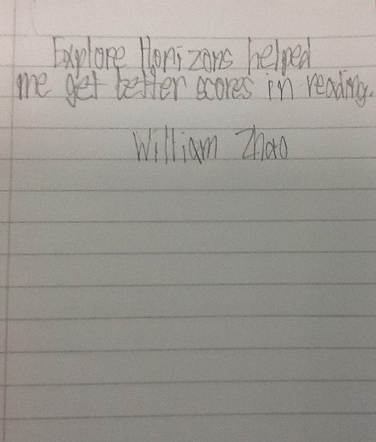 plano kid 2 handwritten testimonial