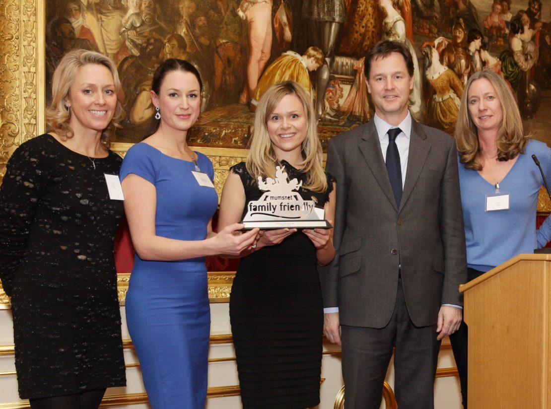 Mumsnet Awards evening at Lancaster House with special guest, Dep Prime Minister Nick Clegg and Mumsnet founders Justine Roberts and Carrie Longton.