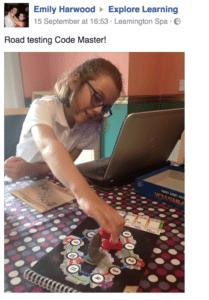 Pheobe playing Code Master