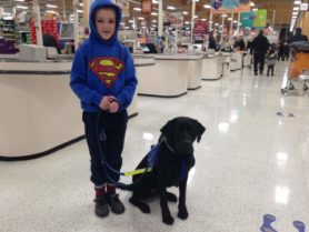 Sam and autism support dog