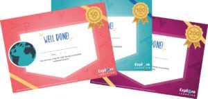 Explore Learning certificates