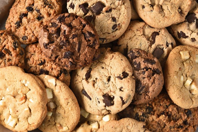 Cookies, made from materials