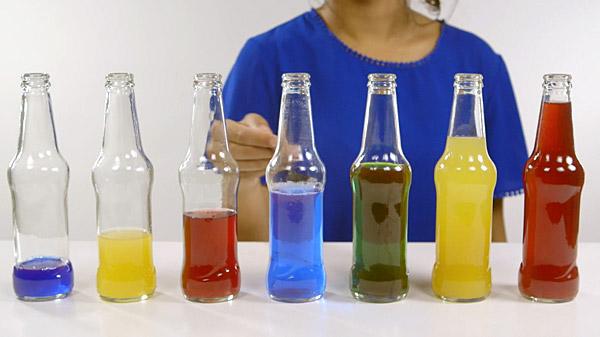A bottle orchestra