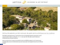 <p>ARTISA is een uniek retreat voor wetenschappers, kunstenaars, leiders en andere professionals wereldwijd. Vrijgesteld van dagelijkse verplichtingen kunt u zich in alle rust en ruimte concentreren op uw werk, een goede start maken met uw sabbatical, kunst cre&euml;ren, nieuwe projecten ontwerpen, inspiratie opdoen, tijd nemen voor bezinning en nieuwe mensen ontmoeten.</p>
