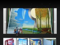 Eric Kerkvliet schildert met olieverf uiterst gedetailleerde voorstellingen waarin fictie en werkelijkheid naadloos in elkaar overlopen