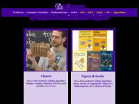 Eric Demaine is een wiskundige die allerleiaspecten van vouwen bestudeert.