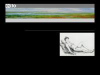 Een breed oeuvre, waarbinnen de litho's en de landschapsschilderingen mij zeer aanspreken. Heel apart vind ik de collages van geabstraheerde landschappen gemaakt van geverfde vlieseline.