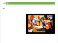website van Hanny van Glabbeek met veel afbeeldingen van zowel mensen als dieren, vaak geabstraheerd, maar toch nooit volledig abstract.