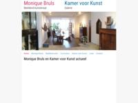 Kunstenaar Monique Bruls, galeriehoudster en deelnemer van Odd-kunstroute. Monique maakt beelden van keramiek en brons.Tijdens de odd-kunstroute 2010 en 2011 was mijn werk bij haar te zien (schilderijen - sieraden). Kamer voor kunst Goltziusstraat 40, Venlo.