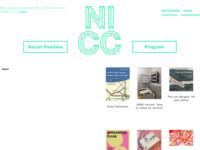 NICC : Nieuw Internationaal Cultureel Centrum  Overkoepelde belgische organisatie voor het welzijn van kunstenaars