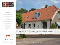 B&B Appartementen Pension Groepsaccommodatie Vakantiehuis Drenthe  De droom van Serge en Josette in Diever
