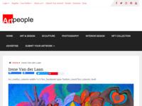 Website voor kunstenaars om werk tentoon te stellen. Mooie site met inspirerende kunst!