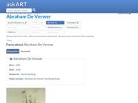 Link naar informatie over Abraham de Verwer een verre voorvader van ons.