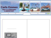 <p>Carla Emmen</p>  <p>Tekeningen Schilderijen Illustraties Teken- en schilderles Exposities en workshops<br /> Forel 50 3824LB Amersfoort<br /> E-mail info@carlaemmen.nl<br /> Tel. 06-28277712</p>