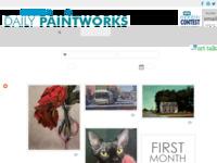 Website met dagelijks afwisselend aanbod van dagelijks schilderijtjes van diverse kunstenaars.
