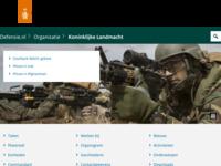 Site van de Koninklijke Landmacht