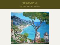 Website Teresa Dominici, een bevriende kunstenares