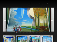 Ruimtelijk Realistisch zo omschrijft Eric Kerkvliet zijn werkwijze, hij schildert in olieverf uiterst gedetailleerde voorstellingen waarin fictie en werkelijkheid naadloos in elkaar overlopen. De suggestie van ruimte en diepte versterkt hij door delen van de drager (paneel)te verwijderen. De op deze wijze ontstane positieve- en negatieve vormen staan niet los van elkaar maar vormen in samenhang met de overige delen van de voorstelling een krachtig en fantasieprikkelend beeld. Het werk van Erik is zeer de moeite waard om te ontdekken en te zien wat penseel,verf een tomeloze fantasie, kijk op onze alle daagse beslommeringen allemaal tot stand kunnen brengen, een aanrader!