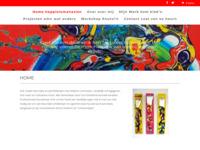 Moderne kleurrijke acrylschilderijen in geheel eigen stijl van Erik Loman.
