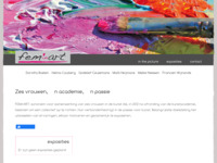 website van een collectief van 13 vrouwen in de kunst