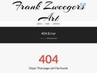 Website van kunstenaar Frank Zweegers
