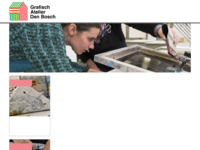 Op deze site vindt u informatie over het Grafisch Atelier te 's-Hertogenbosch. Dit is een kunstenaarswerkplaats met de faciliteiten voor grafische technieken. Naast de werkplaatsen is er een expositie ruimte en de mogenlijkheid tot het volgen van workshops