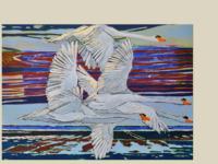 Else Pia Erz is een Deense kunstenares die woont en werkt aan de Deense waddenkust. Haar werk is sterk geinspireerd door haar omgeving.