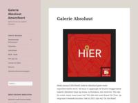 Galerie Absoluut is een expositieplatform voor en door kunstenaars. Ik maak deel uit van de kerngroep