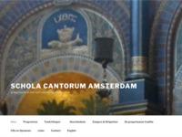 De Schola Cantorum Amsterdam zingt iedere zondag om vijf uur vespers (in het Latijn) in de Nicolaaskerk in Amsterdam.