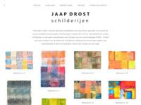 Abstracte schilderijen van Jaap Drost