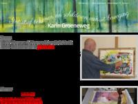 Bij Karin Groeneweg volg ik nog steeds lessen intuitief schilderen. Haar lessen zijn voor mij een grote inspiratiebron!