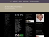 Startpagina met namen en doorlinken van realistische kunstschilders in diverse disciplines...