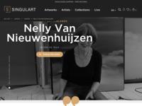 Internationale online galerie met mijn laatste werk.