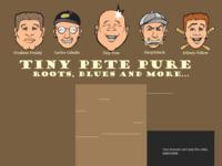 De bluesband Tiny Pete 'Pure' uit Hengelo waarvoor ik de CD-hoes van hun CD heb gemaakt.