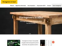 Website van 'vormgevers in hout'. Dit is een jaarlijkse manifestatie op Fort bij Vechten, Bunnik.