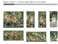 Prachtige dieren/natuur schilderijen van JANI OLSEN