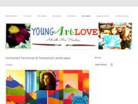 Schilderles op een Amerikaanse school met mijn schilderijen (fantasielandschappen) als inspiratie