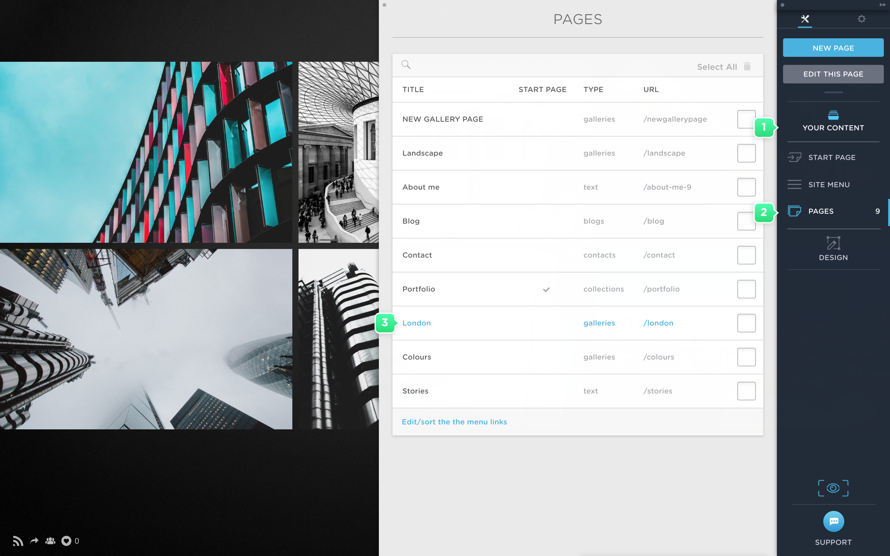 Edit image viewer template