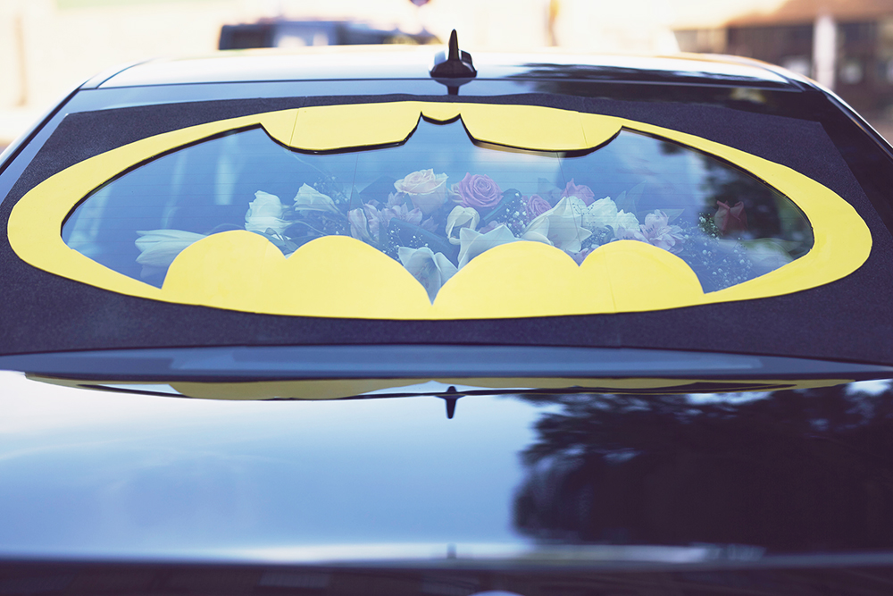 fotografos bodas valencia santy arancha coche batman boda
