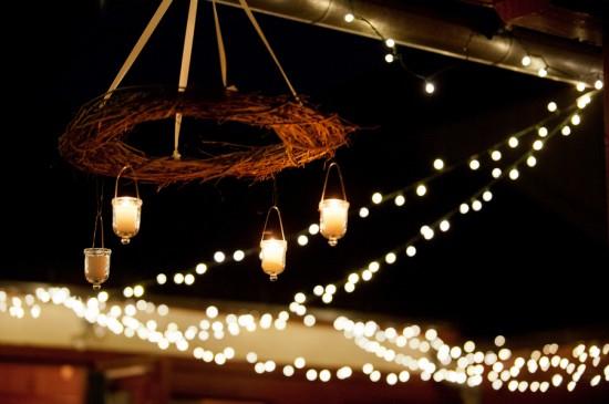 iluminación de vuestra boda velas colgadas