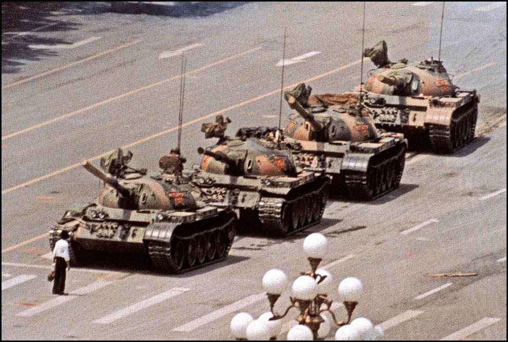 Tank Man by Jeff Widener