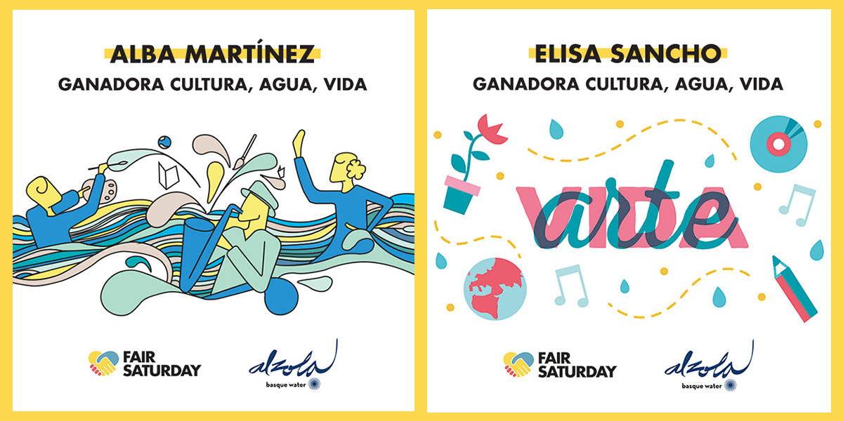 Ganadoras concurso de diseño Cultura Agua Vida