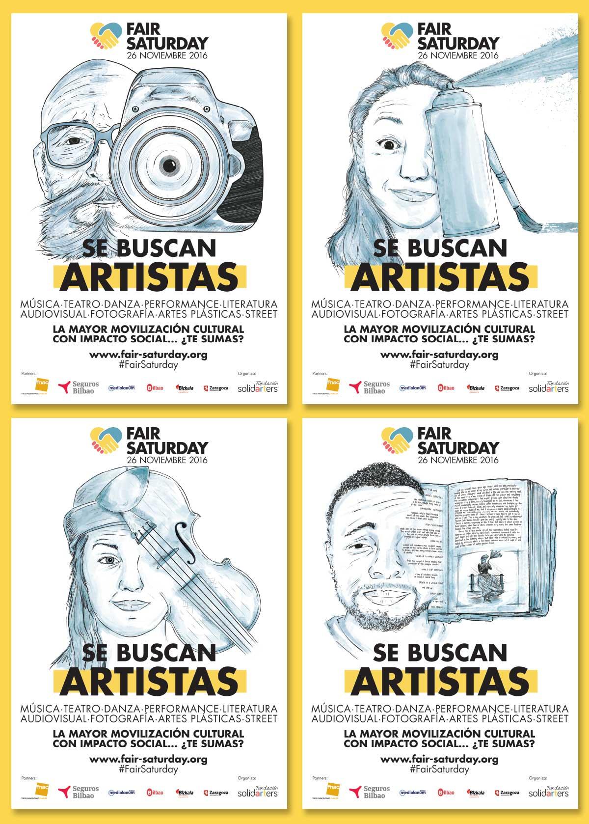 Se buscan artistas para participar en la mayor movilización cultural con impacto social. Fair Saturday 2016