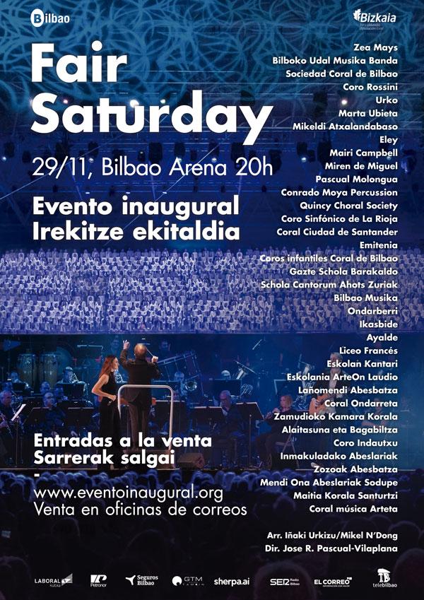 Cartel Evento Inaugural Fair Saturday 2019