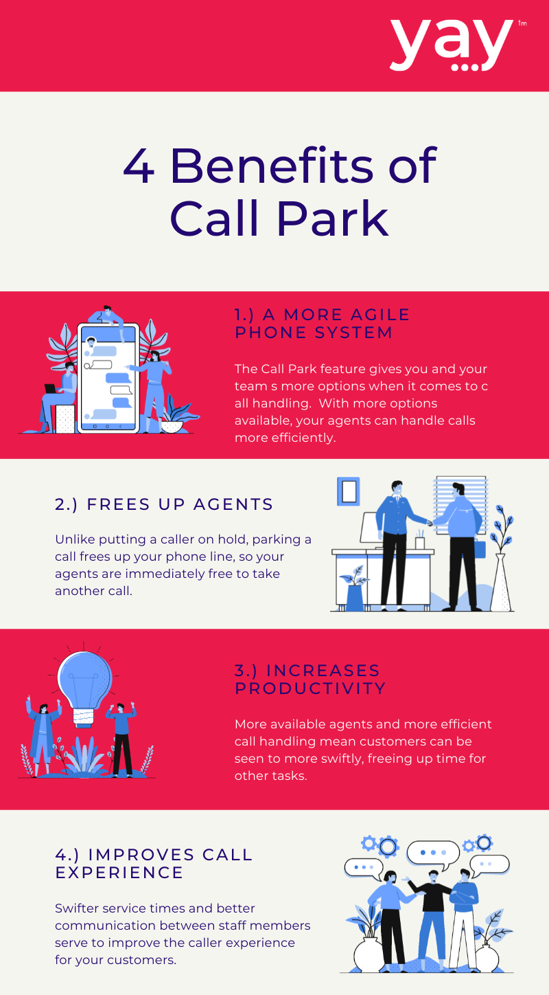 4 benefits of call park infographic