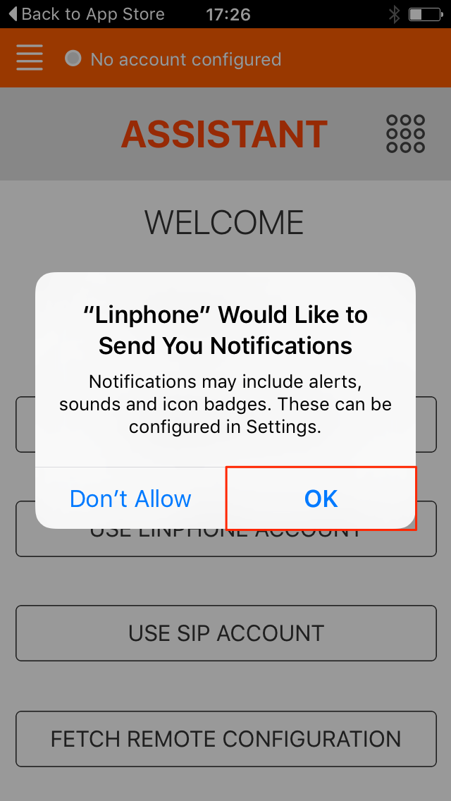 Linphone Notify