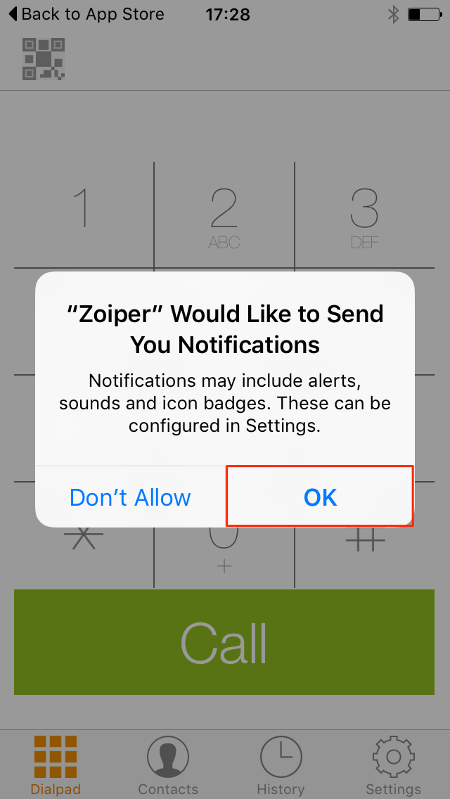 Zoiper Push Notfications