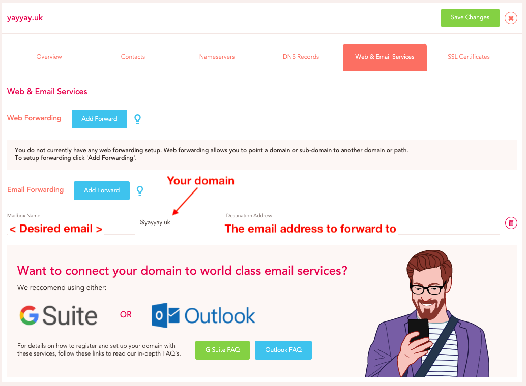 Email Forwarding for Domains