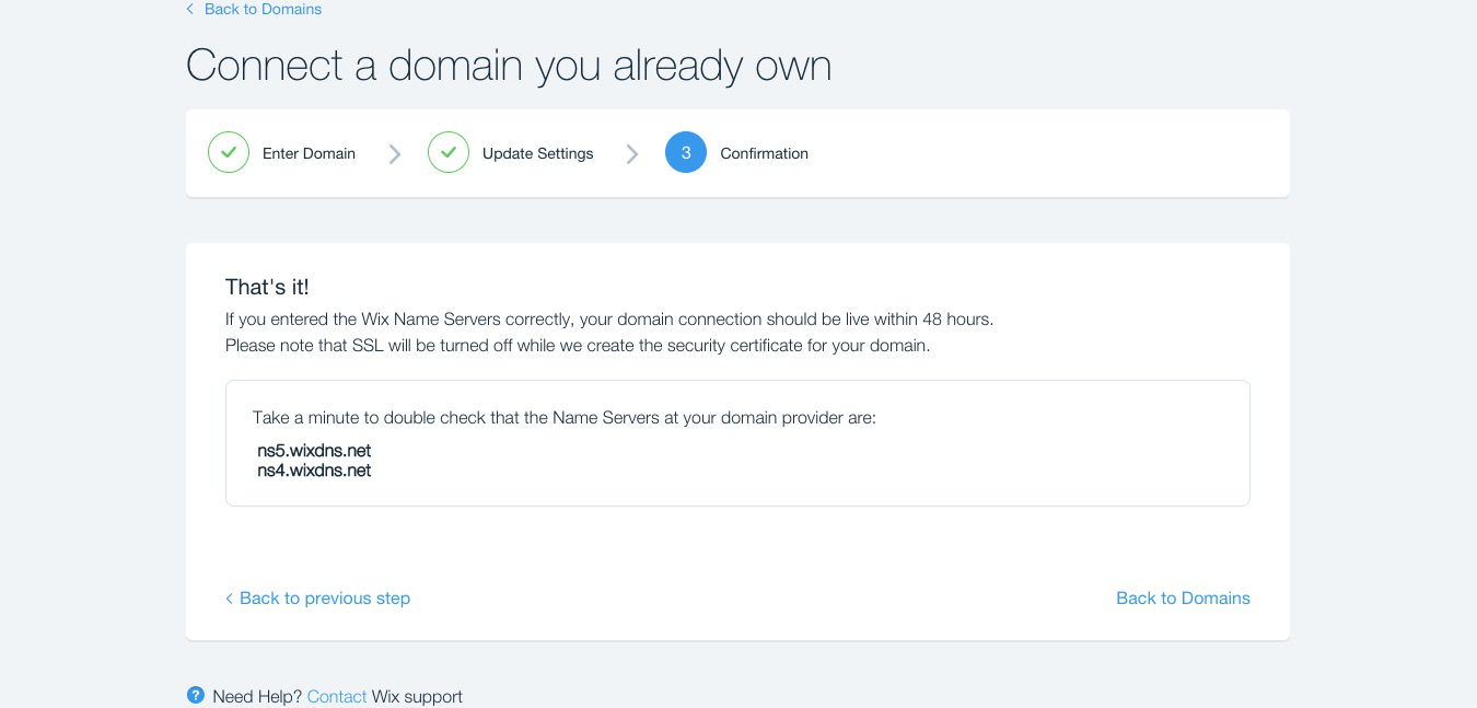 How To Set Up Your Domain With A Website From Wix Yay Com