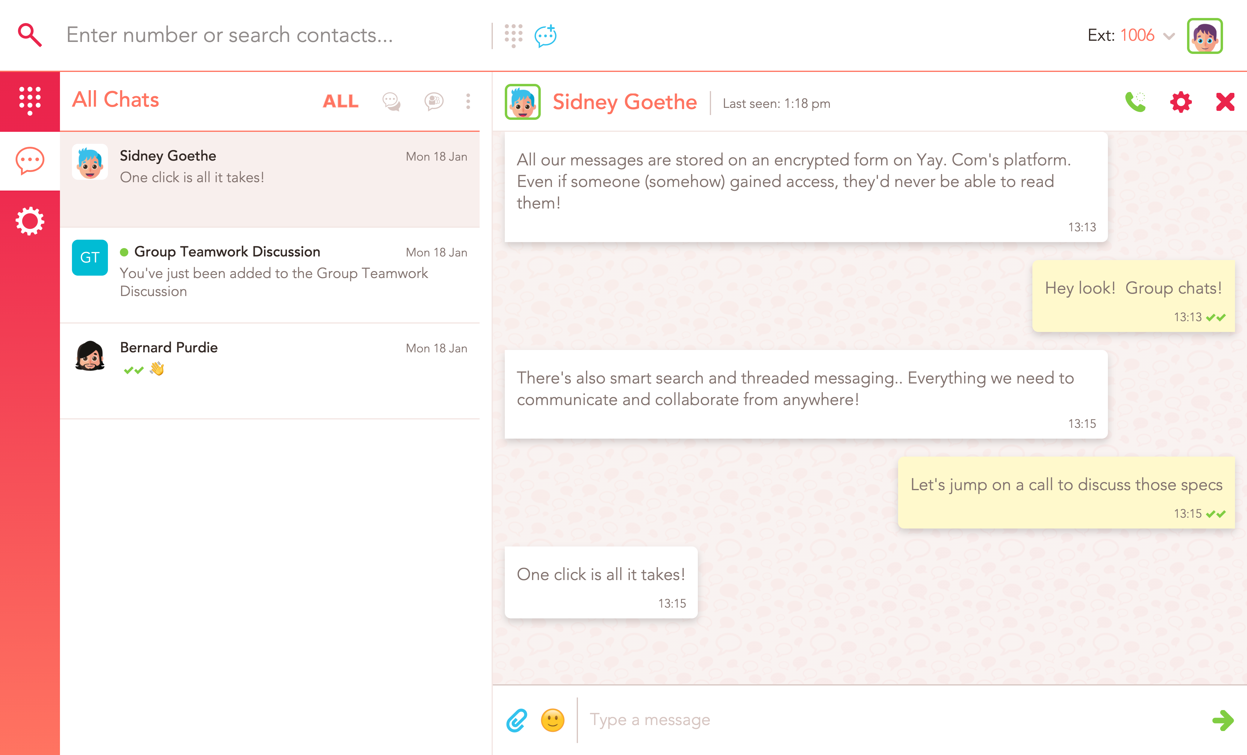 yay instant messaging for business app